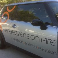 Car Decals for Hair Drezzers on Fire