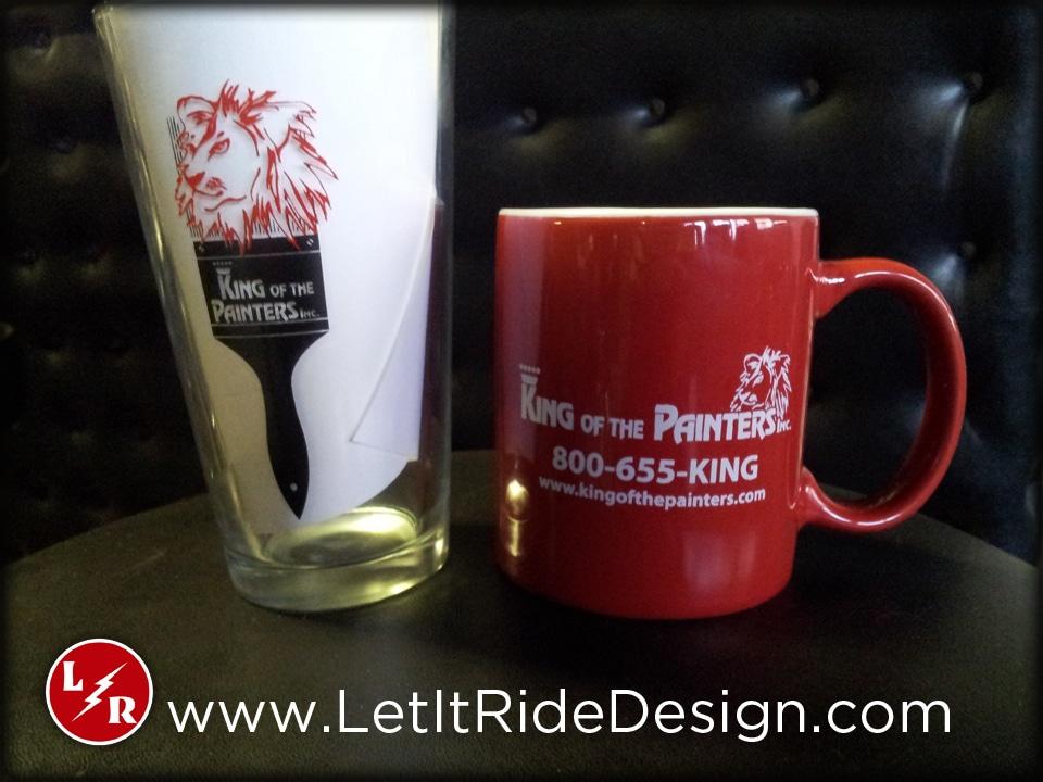 King of the Painters Custom Printed Glassware