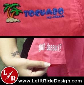 Tocumbo Ice Cream Embroidery