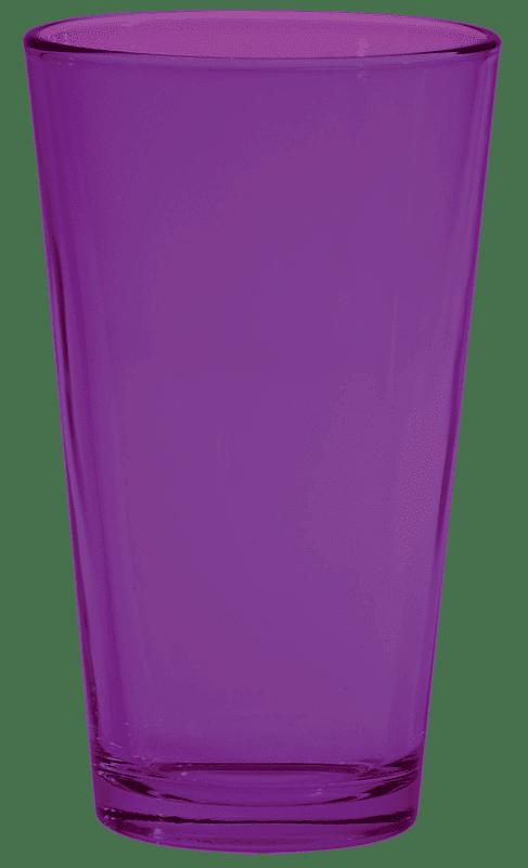 Purple Pint Glass